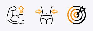 icône objectifs renforcement musculaire perte de poids prise de masse